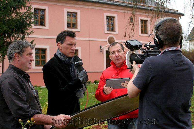 За кулисами съемок чешского фильма для взрослых.